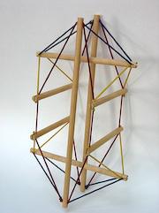 wooden torso model